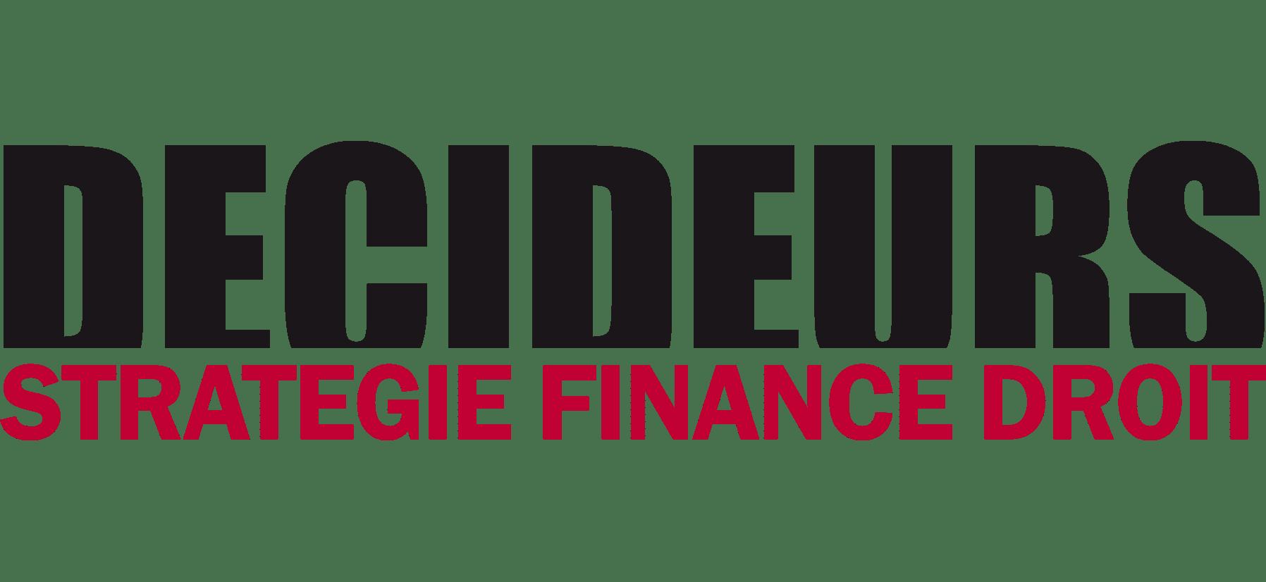 Logo des décideurs, stratégie finance droit