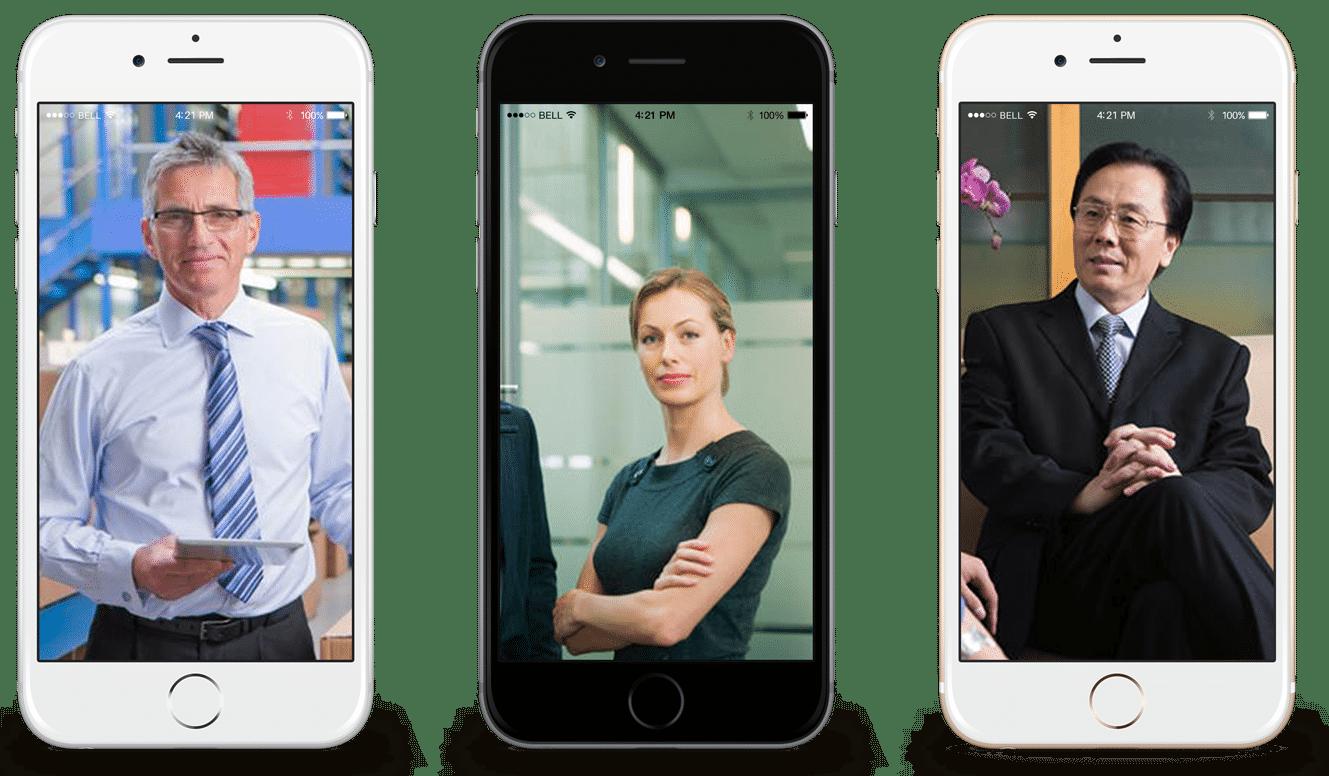 3 types de profil dans 3 smartphones
