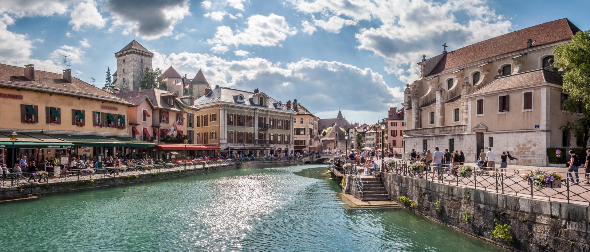 Photo de la vieille ville d'Annecy